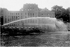 Testing fire hoses on the Iowa River by SHL