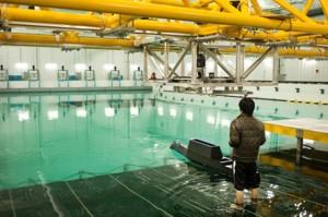 IIHR's new $4.9 million wave basin in action