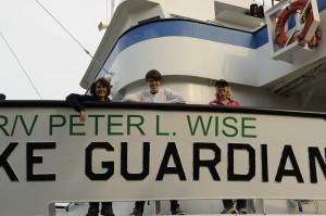 The IIHR research team aboard the Lake Guardian.