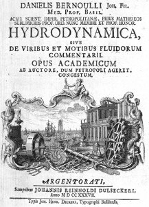 Frontispiece for Chapter 1 of Daniel Bernoulli's Hydrodynamica.