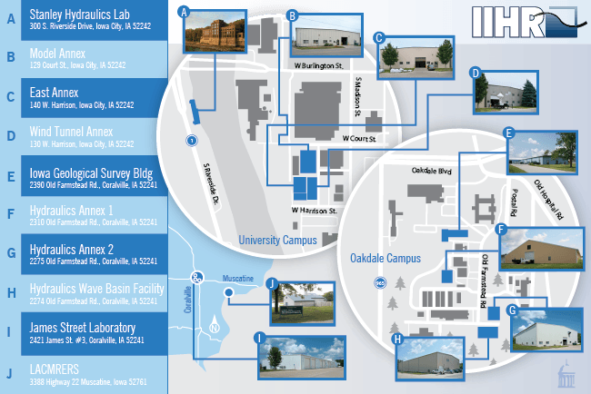 IIHR Facilities Map
