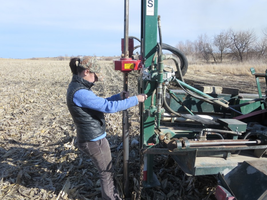 Parsons collects core samples at the IML-CZO Clear Creek site.