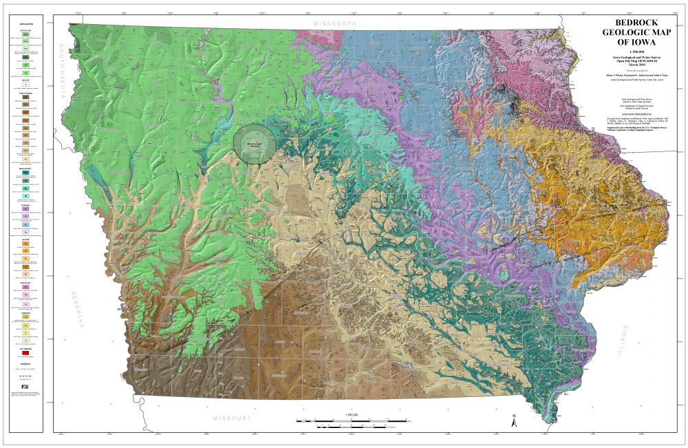 The creation of this Iowa bedrock map was an important milestone for the state.