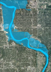 Web-based flood inundation map for Des Moines, Iowa