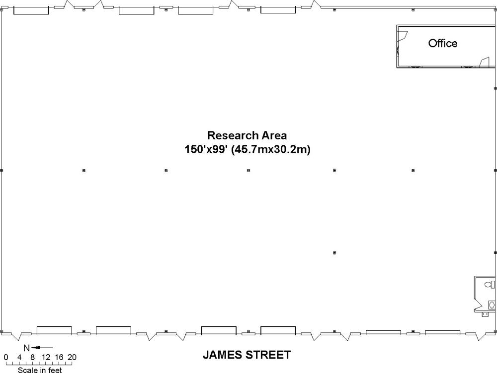 James Street floor plan.