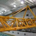 The overhead carriage was custom-built for IIHR's wave basin.