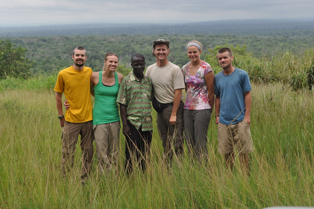 IIHR Associate Research Scientist Craig Just (center) and a team of UI students spent five weeks in Ghana in summer 2010.