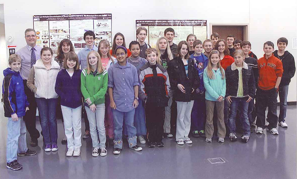 Students participating in the Future Problem Solvers program visited LACMRERS this spring to learn about water quality.