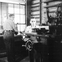 IIHR's researchers have always depended heavily on the mechanical shop (shown here in the early 1940s) and its workers to build, test, and operate precise experimental models.
