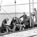 In 1924, the Hydraulics Lab demonstrated its ability to measure the Mississippi River's flow at the Keokuk Dam spillways, initiating a history of Mississippi research that continues to the present day.
