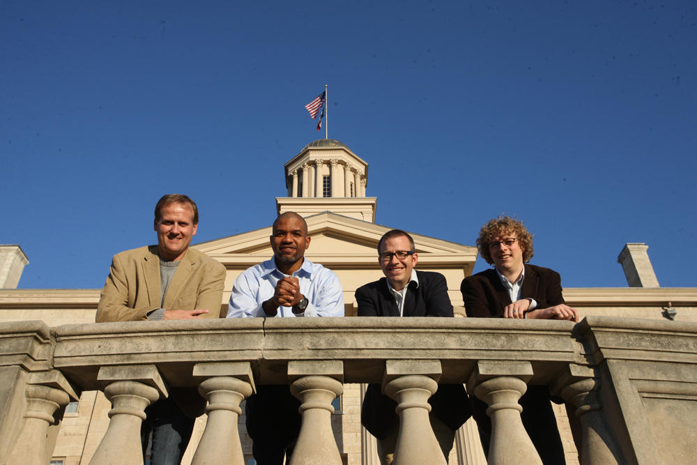 IIHR's new faculty affiliates (l to r): Craig Just, Eric Tate, David Cwiertny, and Adam Ward.