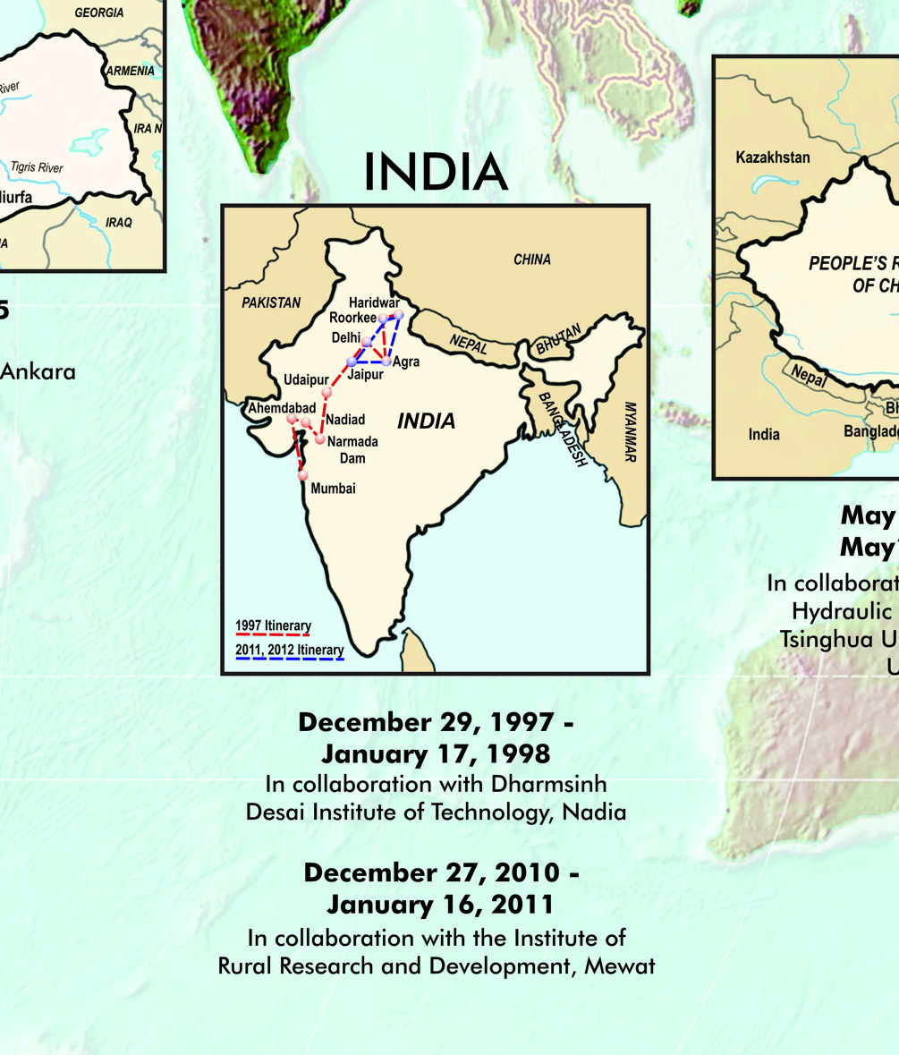 A map of India.