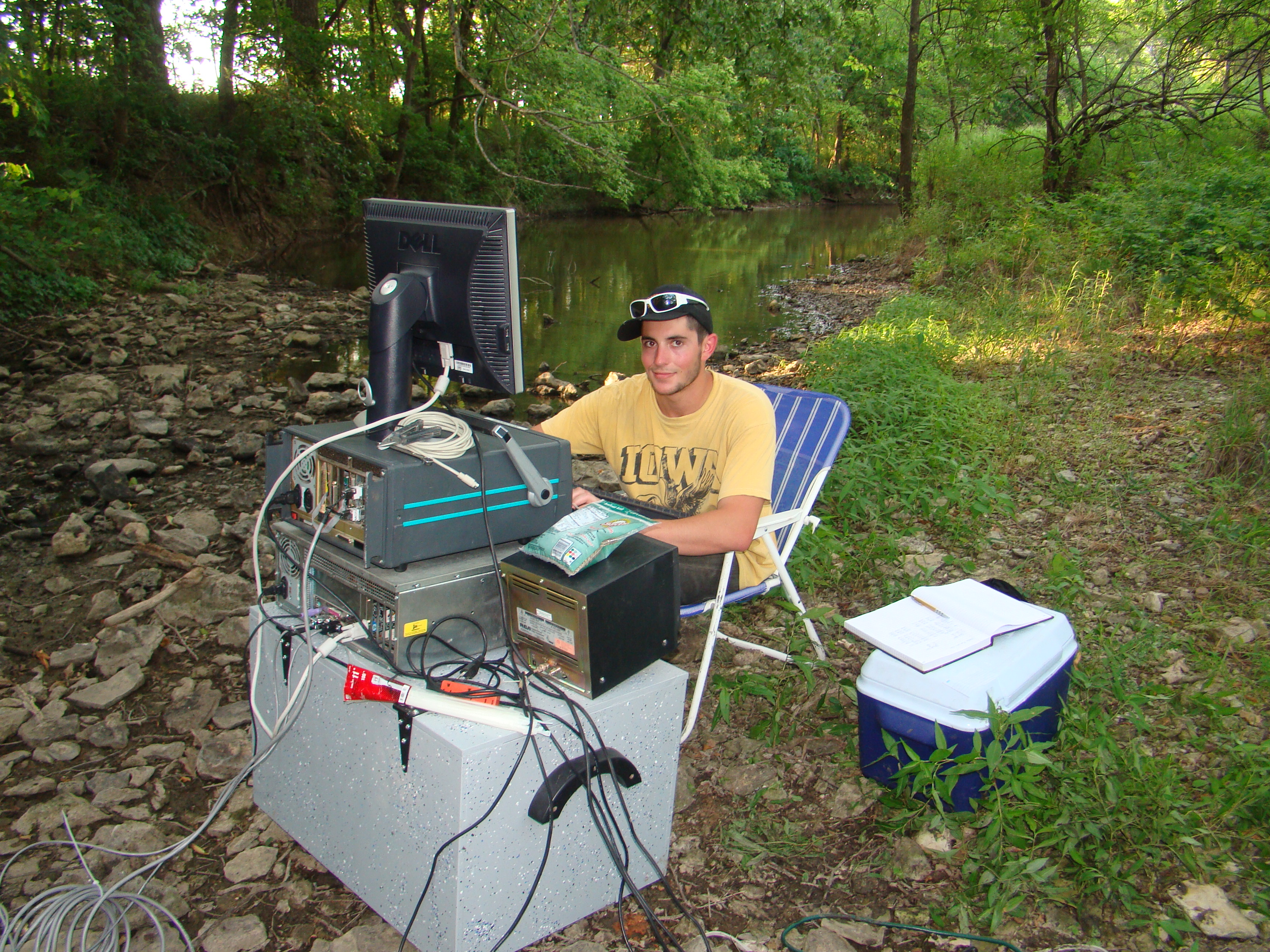 Sean Plenner working in the field in Kansas.