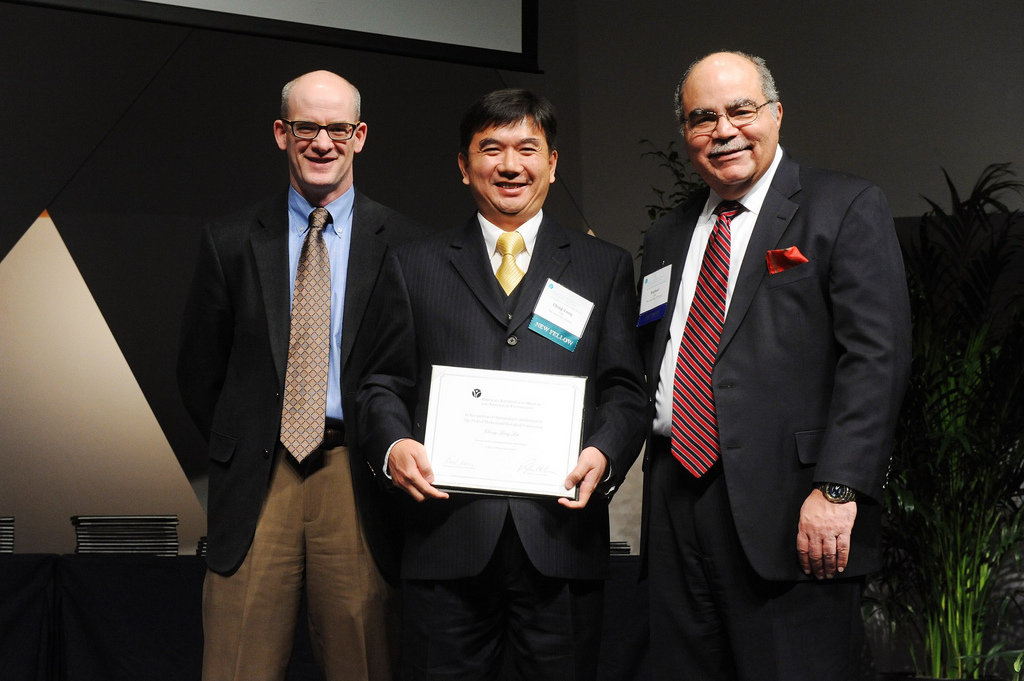 IIHR Research Engineer Ching-Long Lin being inducted into the AIMBE.
