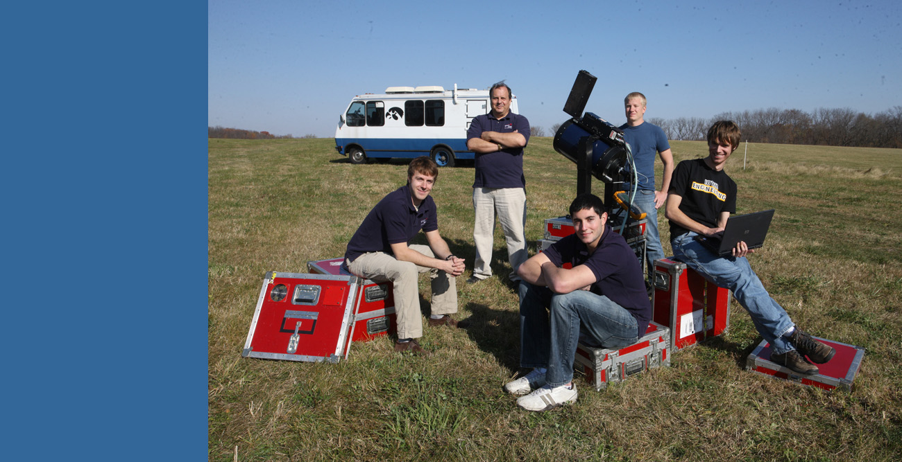 IIHR Research Engineer Bill Eichinger with his student research team.