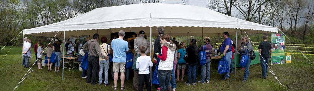 IExploreSTEM fest under a tent.