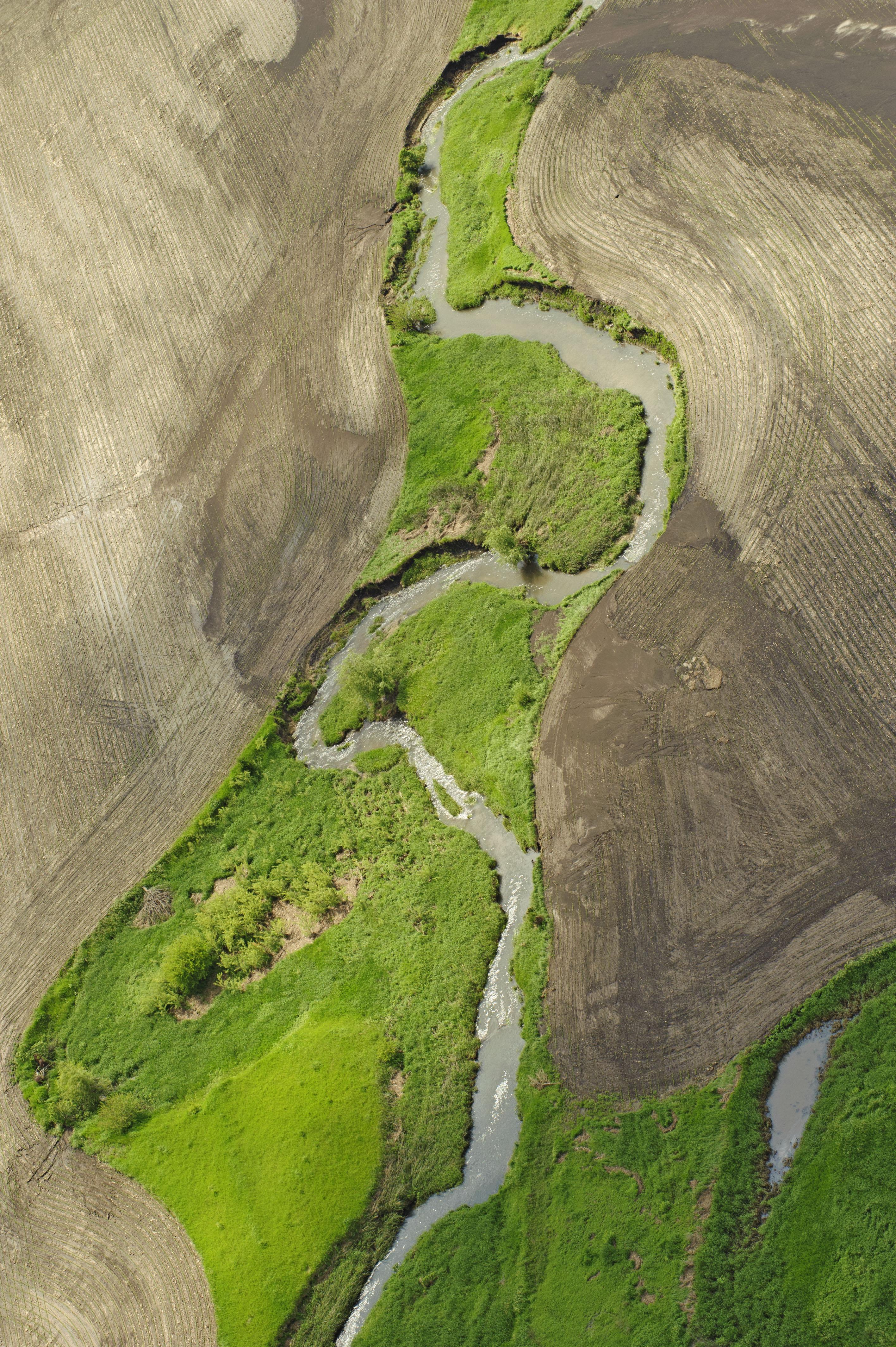Aerial view of Eastern Iowa.