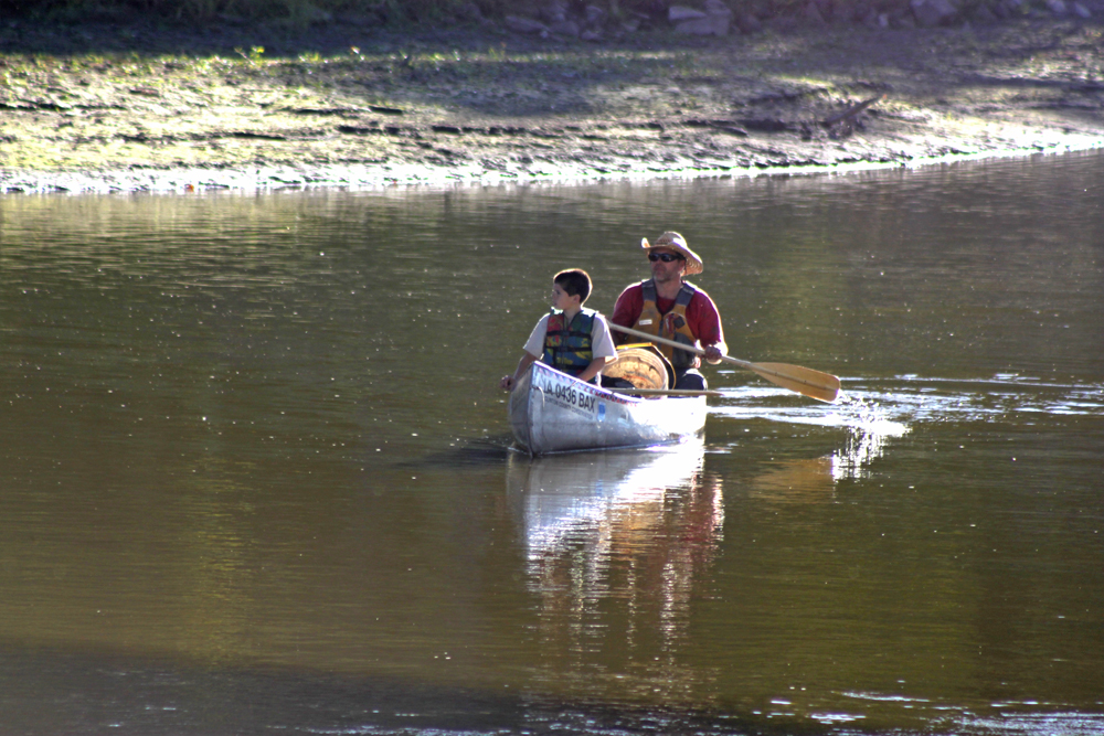 Project AWARE is a canoe-based river clean-up sponsored by the Iowa DNR.