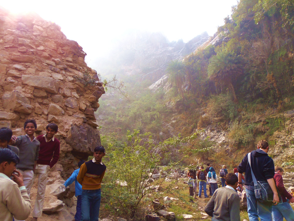 IIHR students participate in the 2012-13 International Perspectives trip to India.