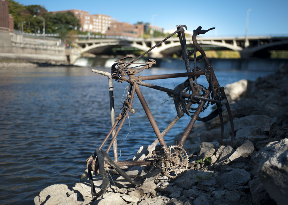 How do so many bicycles get in the river?