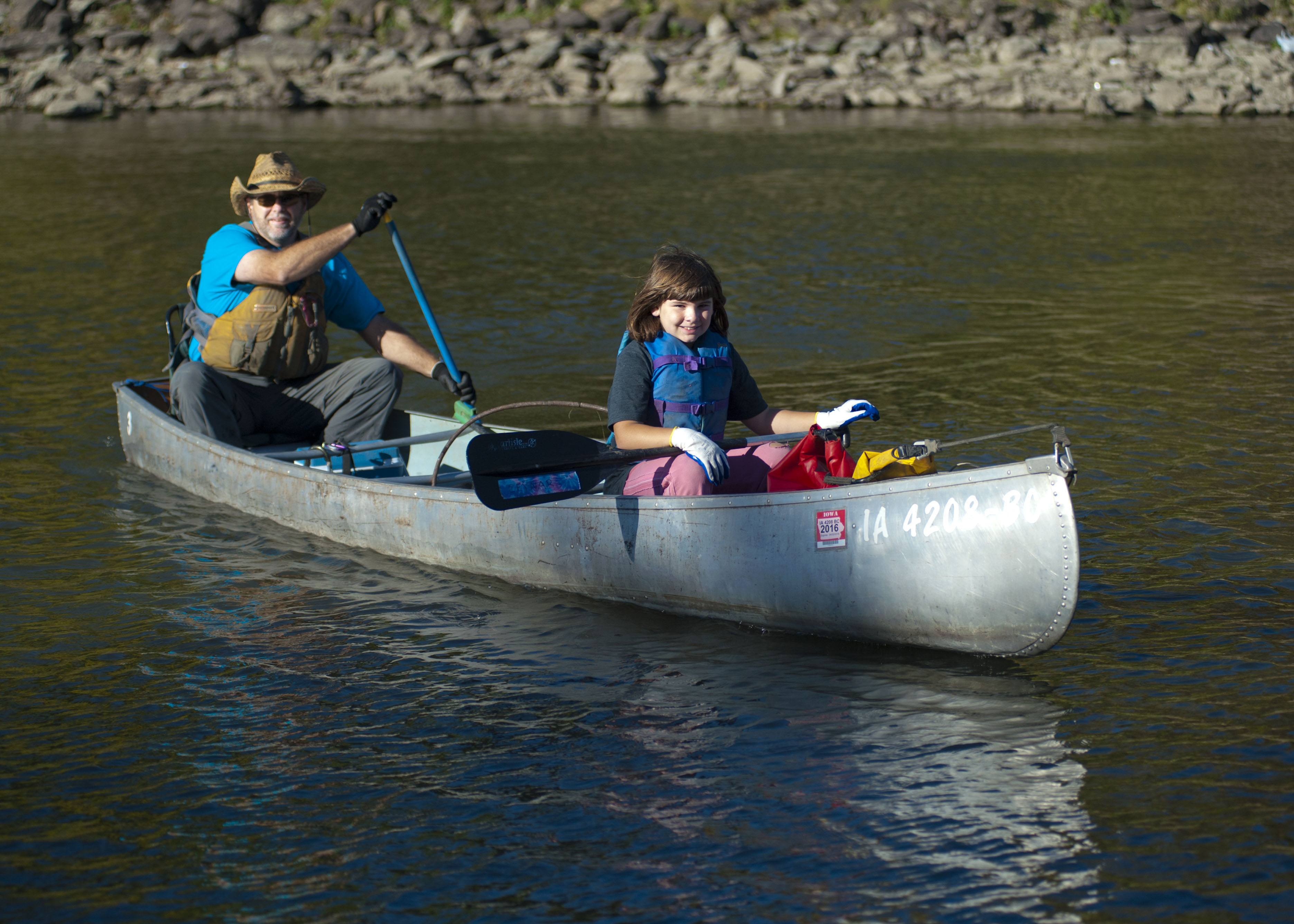 Dan Ceynar, an avid paddler and river clean-up expert, took out his canoe.