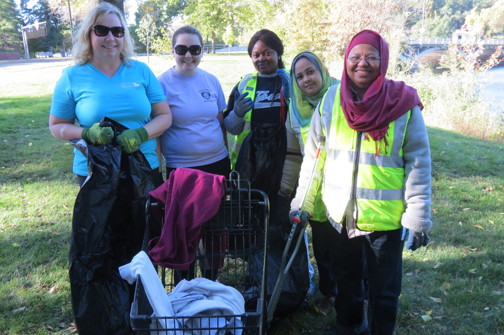 UI staff and students were joined by community members in this volunteer effort.