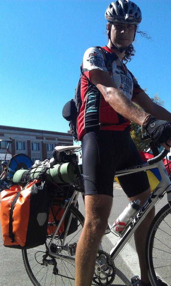 Ricardo Mantilla on a bike.