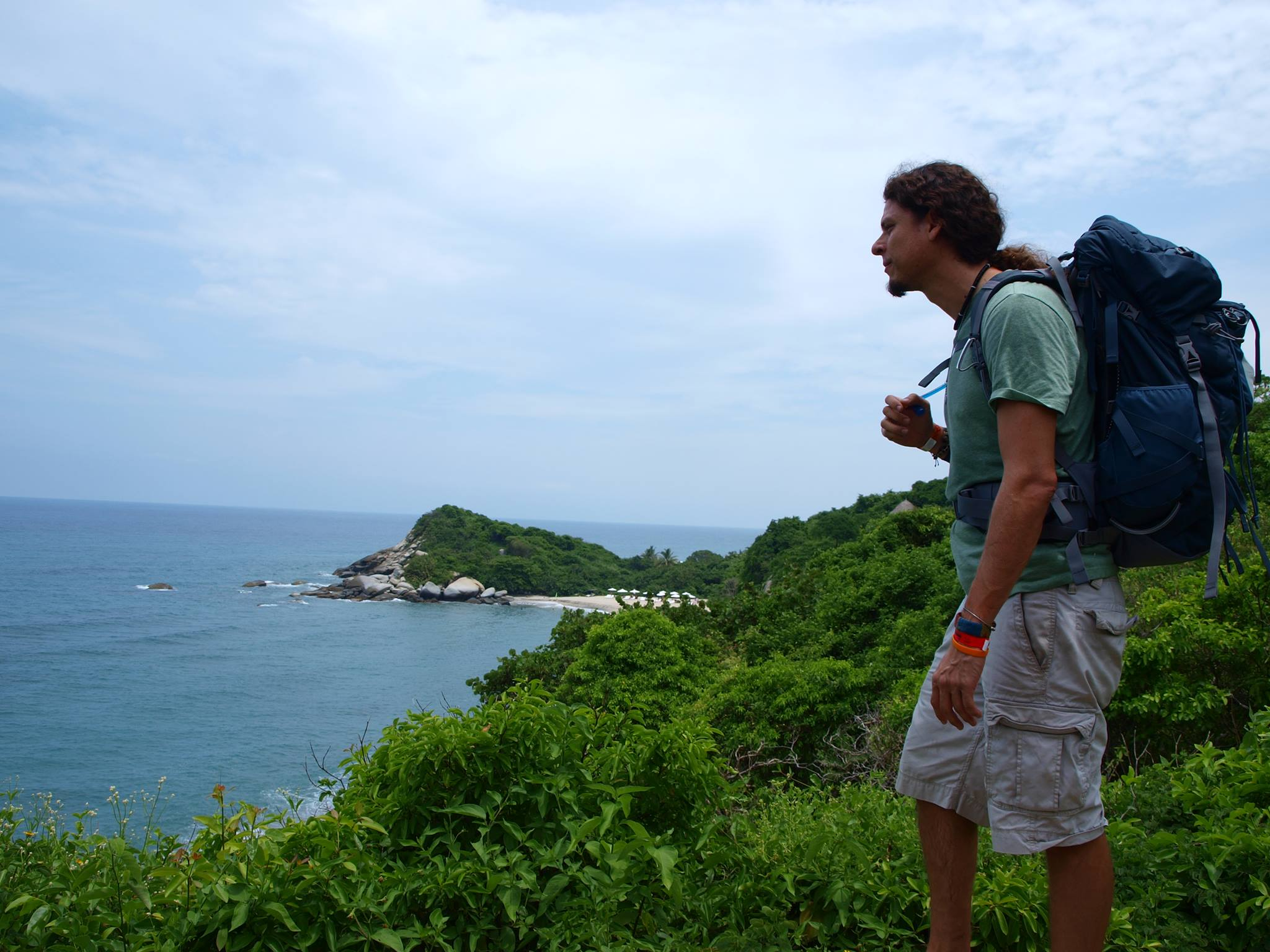 Ricardo Mantilla overlooking the ocean.