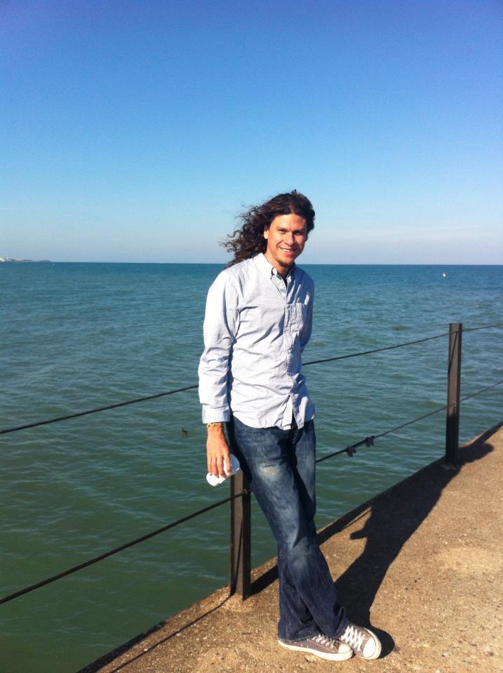 Ricardo Mantilla by the water.