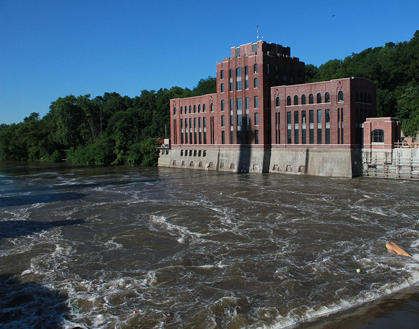 July 3, 2014 — the Iowa River is rising in response to heavy rains in the watershed.