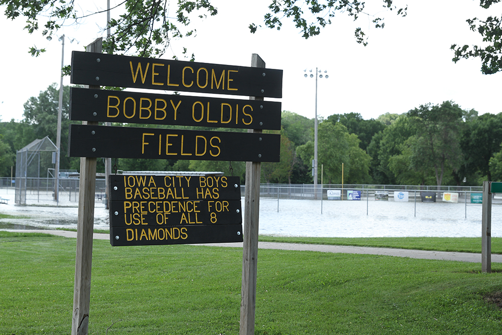 Bobby Oldis Fields located in Lower City Park endure heavy flooding, making most of the baseball diamonds useless during the summer season.