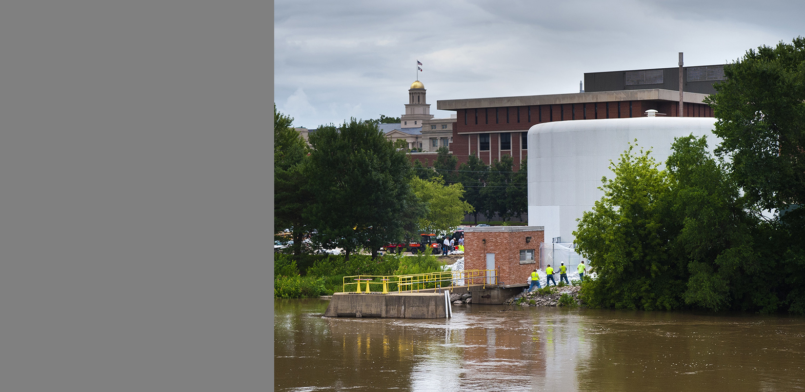 Flooded UI campus
