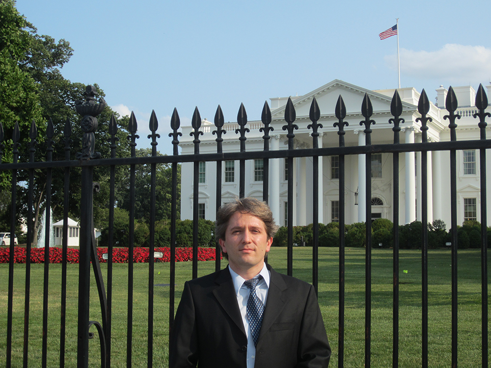 The Iowa Flood Center's Ibrahim Demir was invited to the White House in July to talk about his work on the Iowa Flood Information System.
