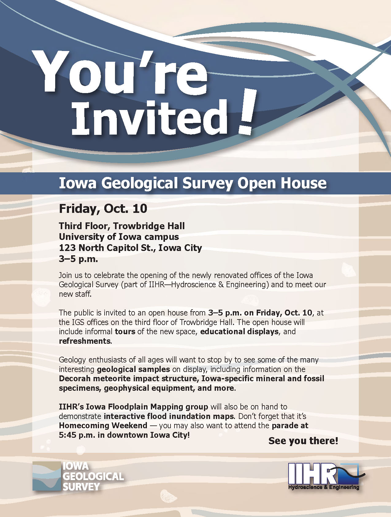 Flyer for an open house.