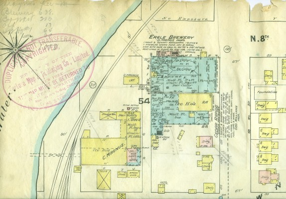 Layout of the Sanborn 1889 Brewery