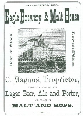 Flyer for Eagle Brewery & Malt House.