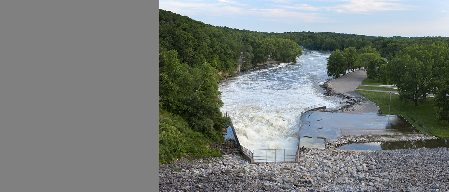 In July 2014, floodwaters threatened to overtop the Coralville Dam.