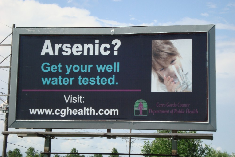 The Cerro Gordo County Department of Public Health developed many communication strategies to spread awareness about arsenic in local private wells.