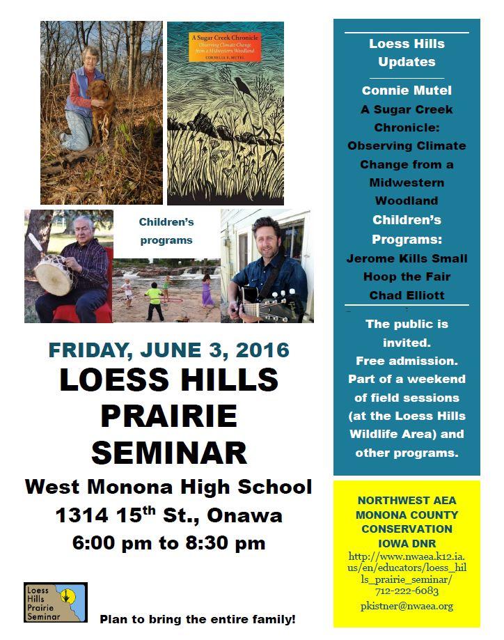 A Loess Hills Prarie Seminar flyer.