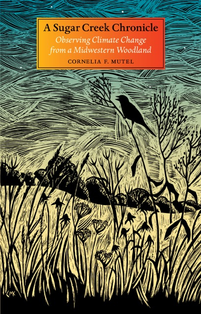 The cover of Mutel's new book features a woodcut by noted local nature artist Claudia Mcgehee.