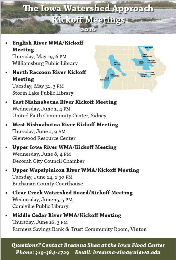 IWA kickoff meeting flyer.