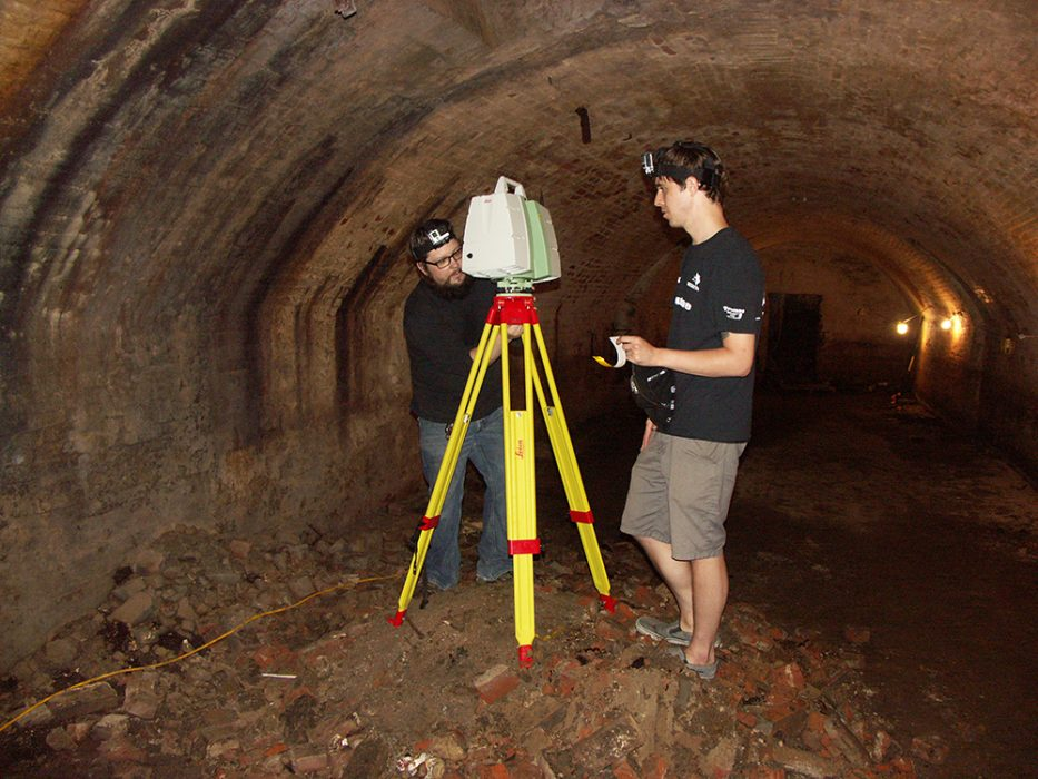 """A team of researchers and students recently took LiDAR scans of Iowa City's """"beer caves."""""""