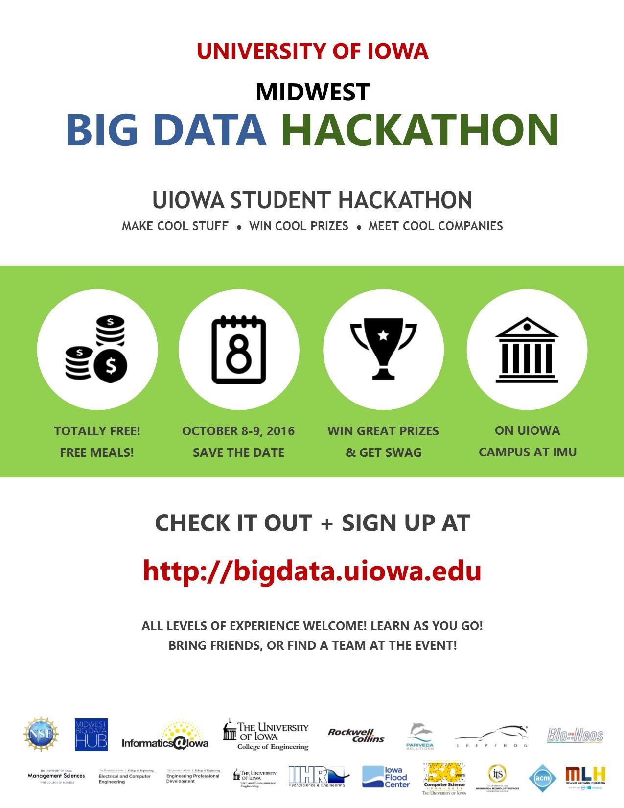Flyer for the Big Data Hackathon.