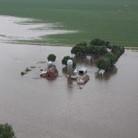 A flood in rural North West Iowa.