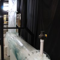 The vortex dropshaft is one strategy to help remove air from the water flow through the sewer.