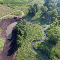 Aerial shot of Morgan Creek Oxbow.