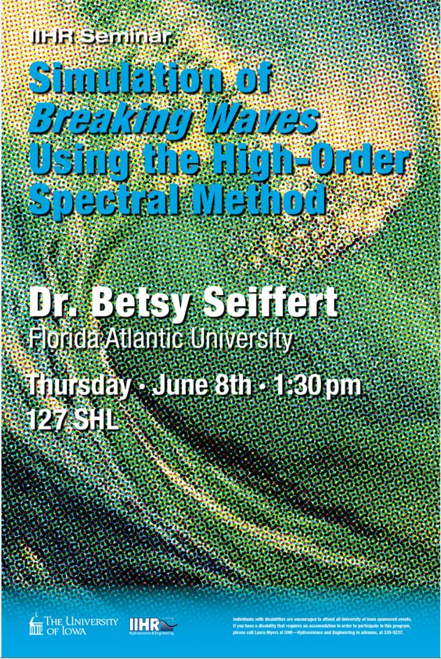 Poster for Dr. Betsy Seiffert' seminar.