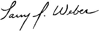 Signature of IIHR Director Larry Weber.