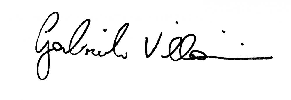 Signature of Gabriele Villarini.