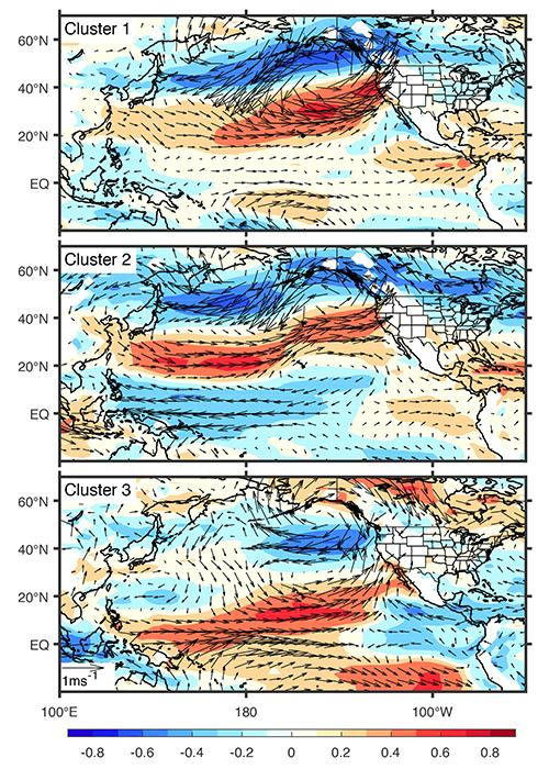 Graphic showing the global movement of air and moisture.